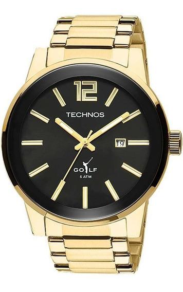 Relógio Technos Masculino Golf 2115tt/4p Dourado Classic