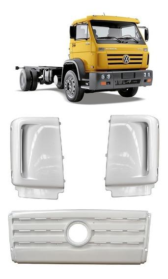 Grade Frontal E Defletor Coluna Caminhão Vw Worker Titan