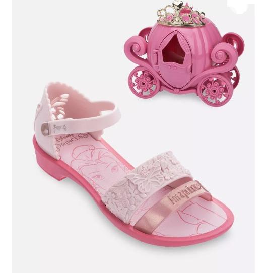 Sandália Infantil Princesas Fairytale Brinde Grendene Kids