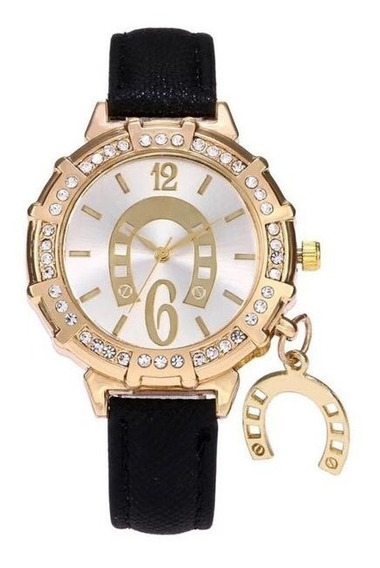 Reloj Vaquero Moda Para Dama Con Herradura