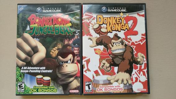 Donkey Konga 2 E Donkey Kong Jungle Beat Originais Na Caixa!