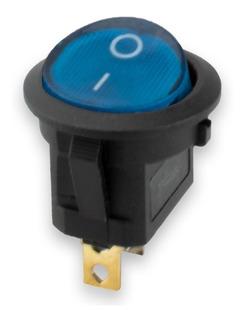 Switch Interruptor Tecla Redonda Con Luz On/off Sw-101