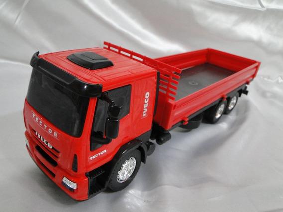 Vermelho Escala 1/32 Caminhão Brinquedo Iveco Abaixa Grade
