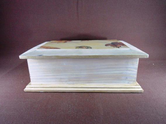 Elegante Caja Te Sobres Madera Alerce Artesania Flor (2832x)