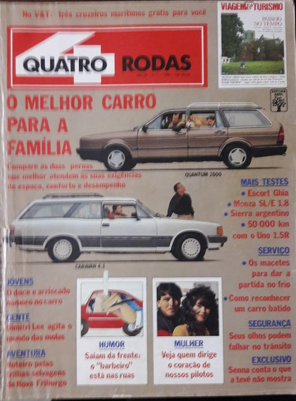 Quatro Rodas N° 336 Quantun 2000 X Caravan 4.1