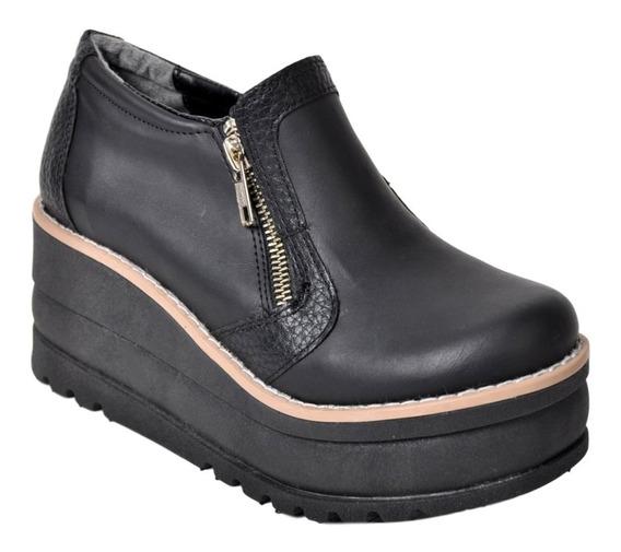 Botineta Zapato Mujer Con Plataforma Campus 2122 Liviano Cierre