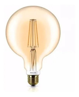 Lampara Led Globo Filamento Vintage 7w Dimm Golden Philips