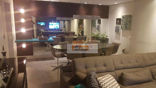 Apartamento Com 3 Dormitórios À Venda, 165 M² Por R$ 1.700.000,00 - Jardim - Santo André/sp - Ap5591