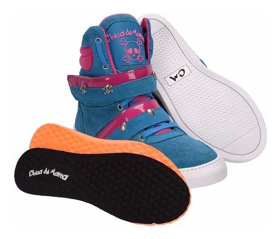 Bota Botinha Sneaker Academia Treino Couro Cano Alto Fitness