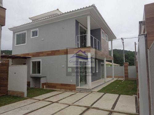Casa Com 2 Dormitórios À Venda, 70 M² Por R$ 350.000,00 - Jardim Atlântico Oeste (itaipuaçu) - Maricá/rj - Ca0869