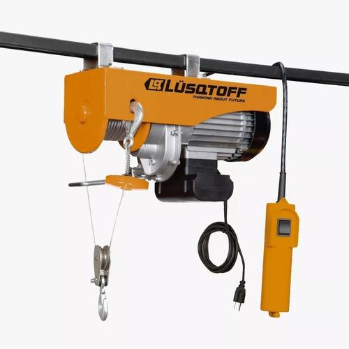 Malacate Aparejo Electrico 500 Kg 12 M Lusqtoff N2