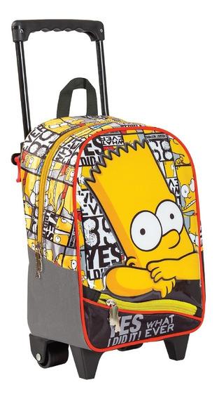 Mochila Con Carro Simpsons 12 31cm Jardin