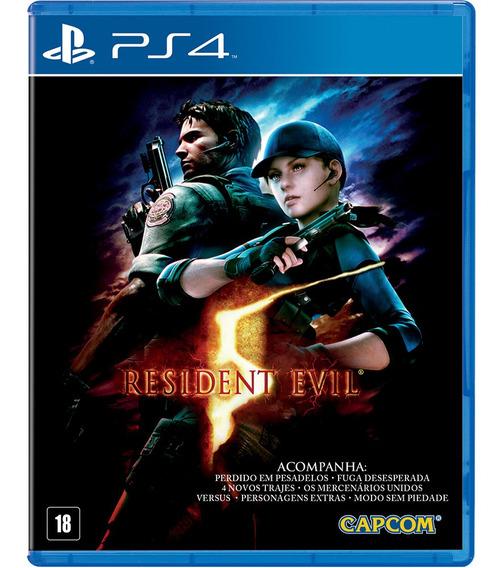 Jogo Midia Fisica Resident Evil 5 Original Lacrado Para Ps4