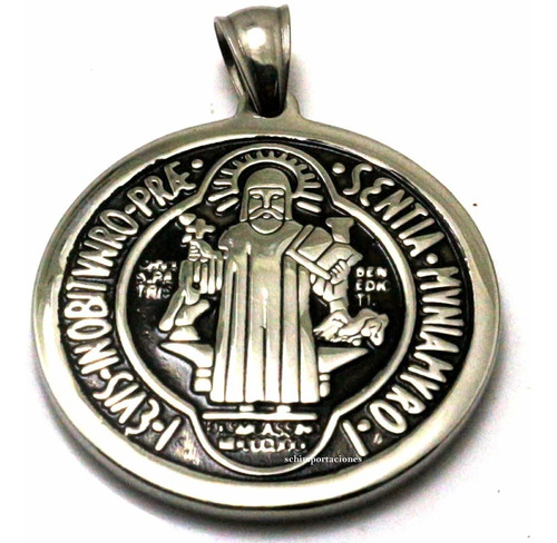 Nuevo Medallon De San Benito ++ Consagrado ++ Acero Premium