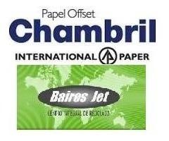 1000 Hojas Opalina Cartulina Chambril Oficio 118 120 Grs