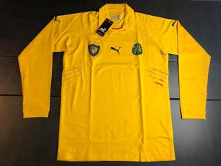 Camisa Seleção Camarões 2004-2006 Gk Manga Longa Jogador