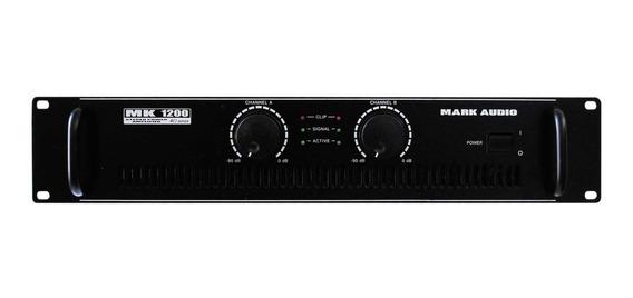 Amplificador Potencia Mark Audio Mk1200 By Attack Mk 1200