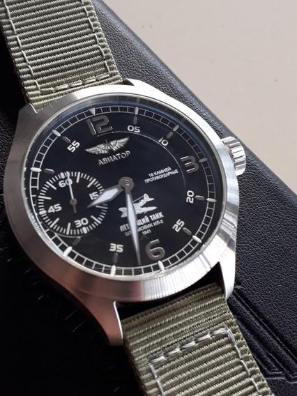 Relógio Russo Poljot Aviator Ed. Limitada Corda - Semi Novo