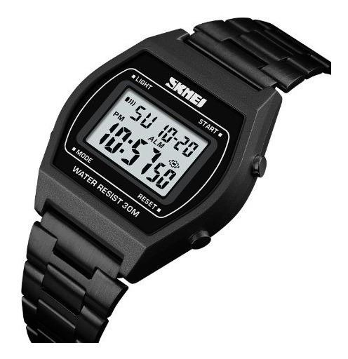 Relógio Feminino Skmei 1328 Digital Similar Casio Preto Soci