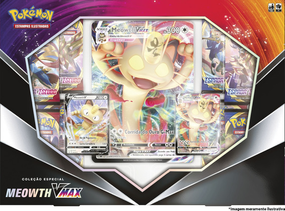 Cartas Pokemon Box Meowth V E Vmax Pokémon Cards Gx Tcg