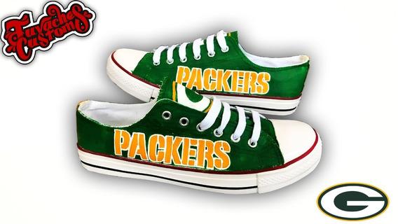 Tenis Pintado A Mano Green Bay Packers Personalizado