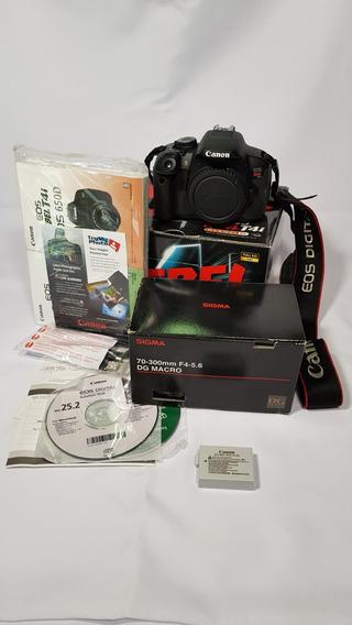 Camera T4i Canon + Lente 70-300mm + Tripe E Acessorios