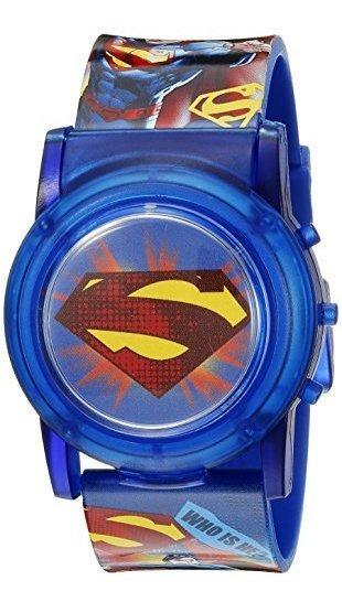 Dc Comics Superman Kids Sup6000sr Reloj Analógico Azul De Cu