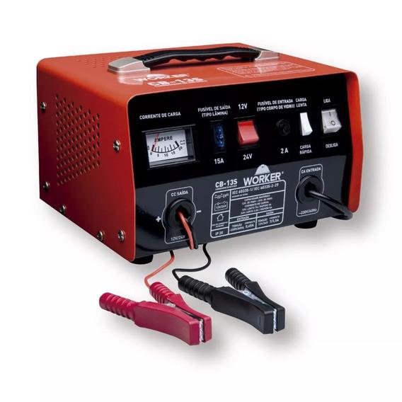 Carregador De Baterias Cb13s 100ah Worker 220v Vermelho