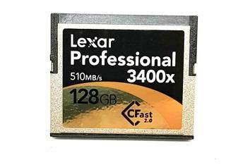 C Fast Lexar Profesdional 128gb 3400x 520mb/s