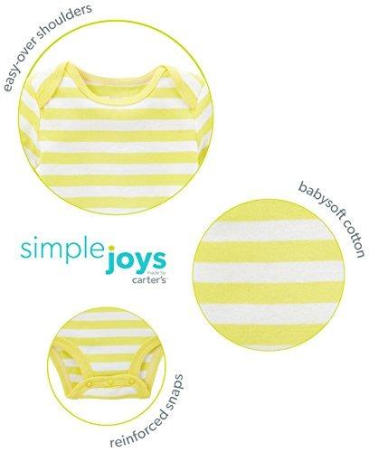 Simple Joys by Carters Body de manga larga para ni/ña 5 unidades