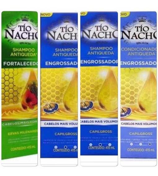 Tio Nacho Kit 2 Engrossador Sh/1 Fortalecedor Sh/1cond Eng