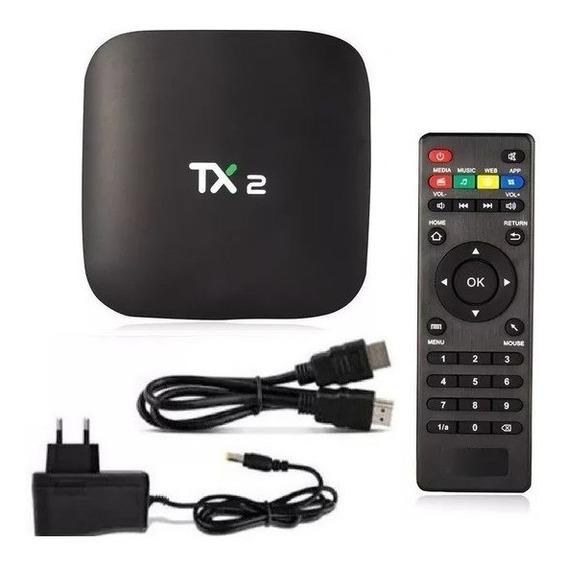 Box Tx2 Conversor Smart 2gb Ram 16gb Rom C/bluetooth