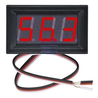 Voltimetro Rojo Digital Gabinete Dc 0-99v 3 Dígitos Arduino