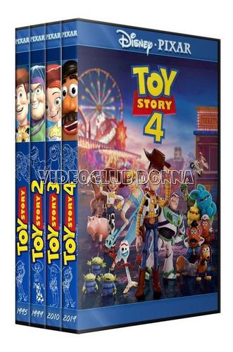 Toy Story Juguetes Coleccion Completa Saga 4 Peliculas Dvd