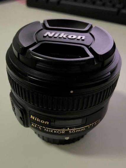 Lente Nikon 50mm 1.8 Autofoco