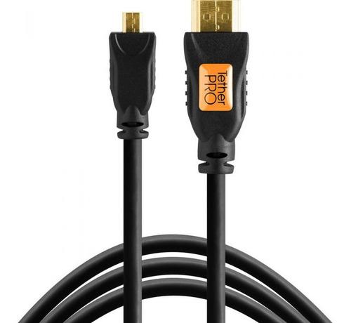 Imagen 1 de 3 de Cable Micro Hdmi A Hdmi 3mts Tether Tools