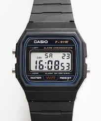Casio F-91w Digital Alarma Cronómetro Illuminator Wr