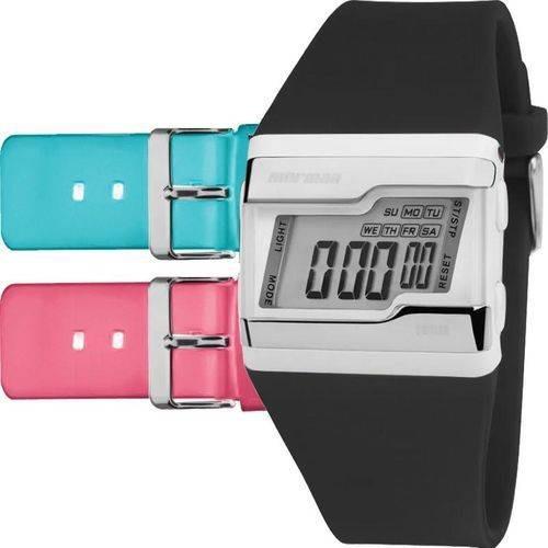 Kit Relógio Mormaii Unissex Aquarela Fzg/t8b Digital