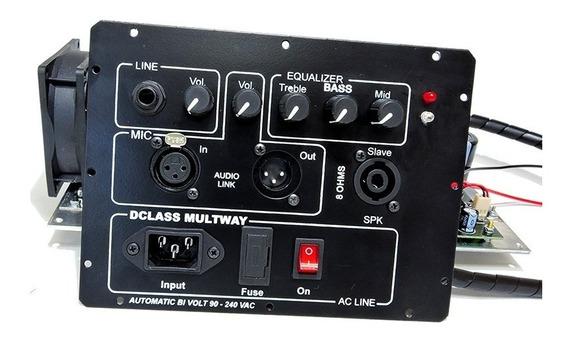 Kit Dclass P/ Ativação De Caixas Multivias 1500 Watts Rms
