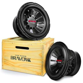 Subwoofer Bravox 12 Edx12 D4 Bobina Dupla 4 Ohms 1500w Caixa