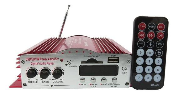 Amplificador 4 Canal Som Igreja Casa Loja Som Ambiente Usb
