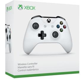Controle Xbox One S Original Microsoft Slim Branco Na Caixa