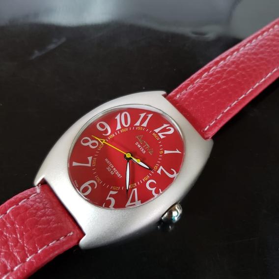 Relógio Masculino Activa Vermelho Swiss Movement