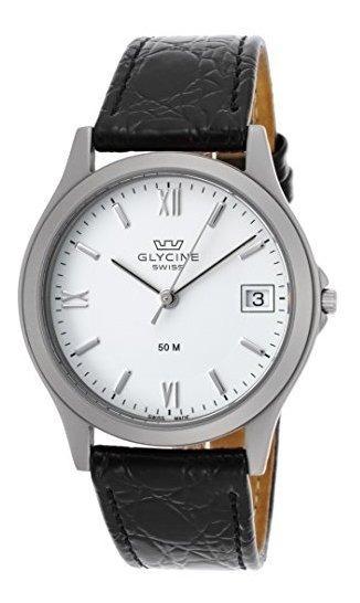 Glycine 3690-11rp-sb-lbk9 Reloj Para Hombre De Cuero Genuino