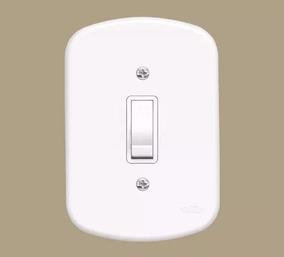 39 Unidades Interruptor 1 Tecla Simples - Blanc - Fame