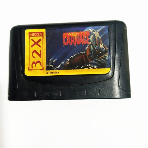 Cartucho De Mega Drive Cosmic Carnage Tec Toy Novo 32x