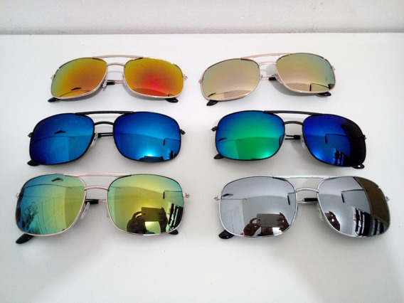 Kit 10 Óculos Quadrado Matal Atacado Unissex Tam M
