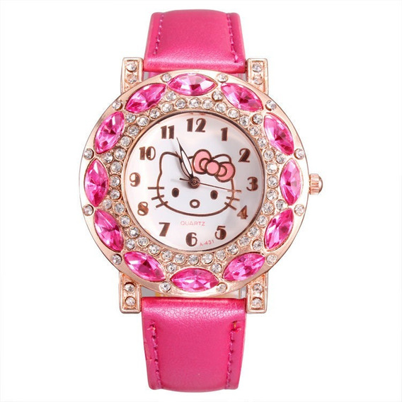 Relógio Infantil Hello Kitty Feminino Lindo Barato