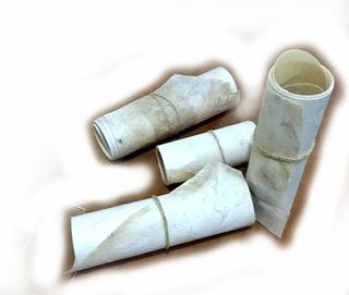 Lonja Cuero De Chivo 15 Cm Ancho 1 M Largo Blanca Grande
