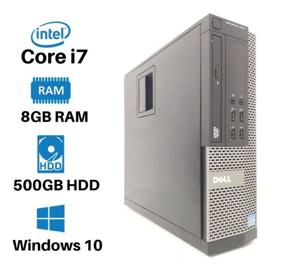 Desktop Dell 7010 Core I7 Hd500 8gb Pc Barato